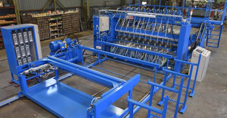 油圧式基礎鉄筋金網溶接装置
